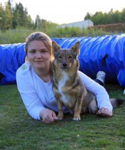 Ebba Kjellberg med Csolo