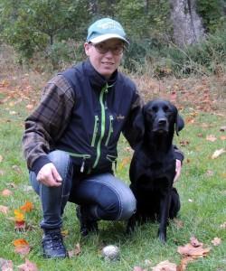 Martina Fransson med Kiwi